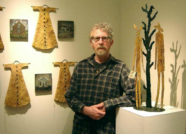 Larry Calkins at the Grover/Thurston Gallery  2013